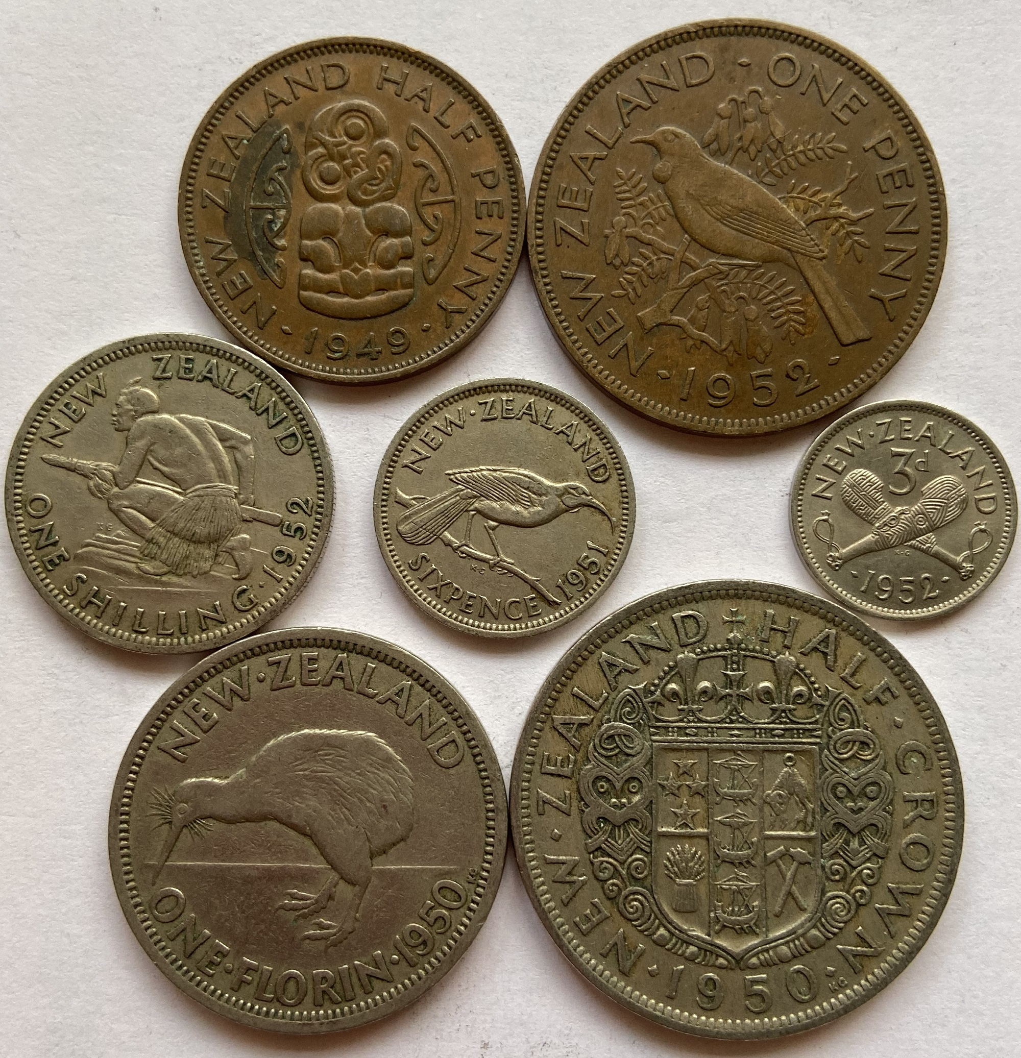 Zealand Island Coins King George