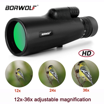 2021 Borwolf 12-36X50 Binoculars BAK4 Prism Optical Lens High Power Hunting Birdwatching Monocular Light Night Vision Telescope 1