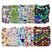 Mumsbest couche culotte en tissu imperméable, 10 pièces par lot, prix de gros, housse de couche lavable et respirante, couleur aléatoire, prix de gros