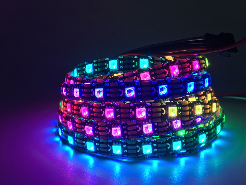 DC12V WS2815 RGB LED Pixel Luce di Striscia Indirizzabili Individualmente LED St