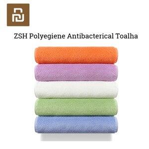 Image 1 - Original Youpin ZSH หนุ่มผ้าเช็ดตัว Polyegiene Antibacterical 100% ผ้าฝ้ายสูงดูดซับผ้าเช็ดตัวผ้าขนหนู Hand Hand 5 สี