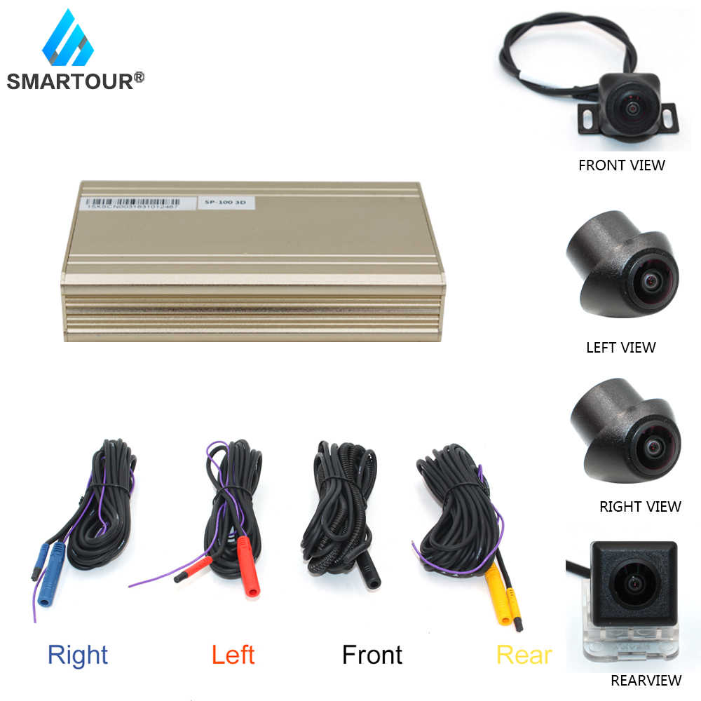 Smartour 3D HD Vòm Quan Điểm Hệ Thống Giám Sát 360 Độ Lái Xe Chim Xem Toàn Cảnh Xe Máy Ảnh 4-CH DVR