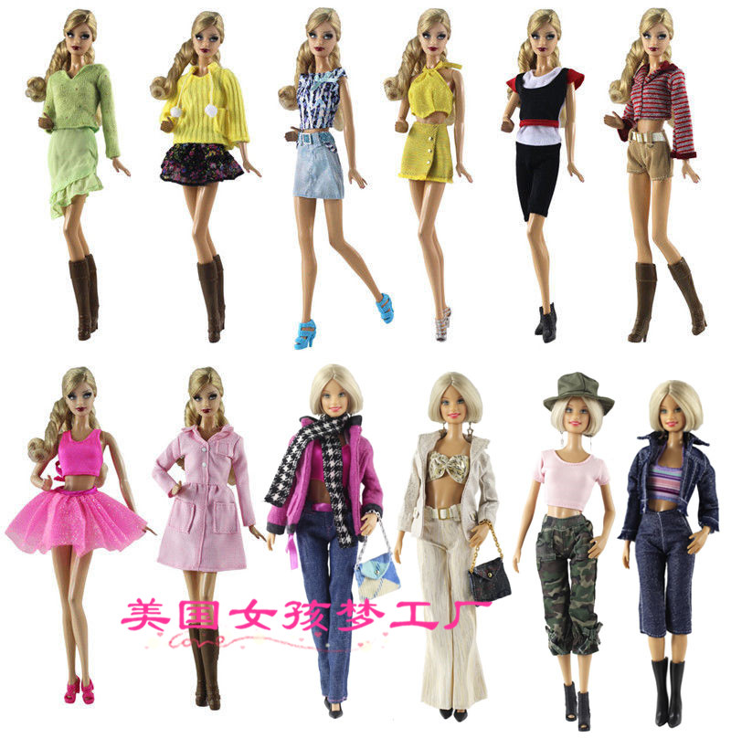 Clothing Set Winter Wear Summer Suit Outfit Clothes Jeans Coat For 1/6 BJD Xinyi Barbie FR ST Doll Gift For Girls 2019 New