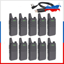 10pcs WLN KD C1 Mini Walkie Talkie UHF 400 470 MHz 5W Power 16 Channel  MINI handheld Transceiver Better Then BF 888S