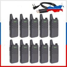 10pcs WLN KD C1 מיני ווקי טוקי UHF 400 470 MHz 5W כוח 16 ערוץ מיני כף יד משדר טוב יותר אז BF 888S
