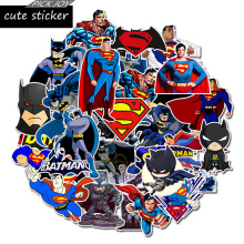 50pcs/lot DC superman batman waterproof sticker for moto laptop mirror skateboard suitcase cool stationery stickers