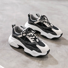 Dad Shoe Woman 2019 Early Autumn Western Style Joker Light Flange Increase Chalaza Leisure Time Sneakers Woman ulzzang original old 2017 street time chalaza increase down keep warm mlz