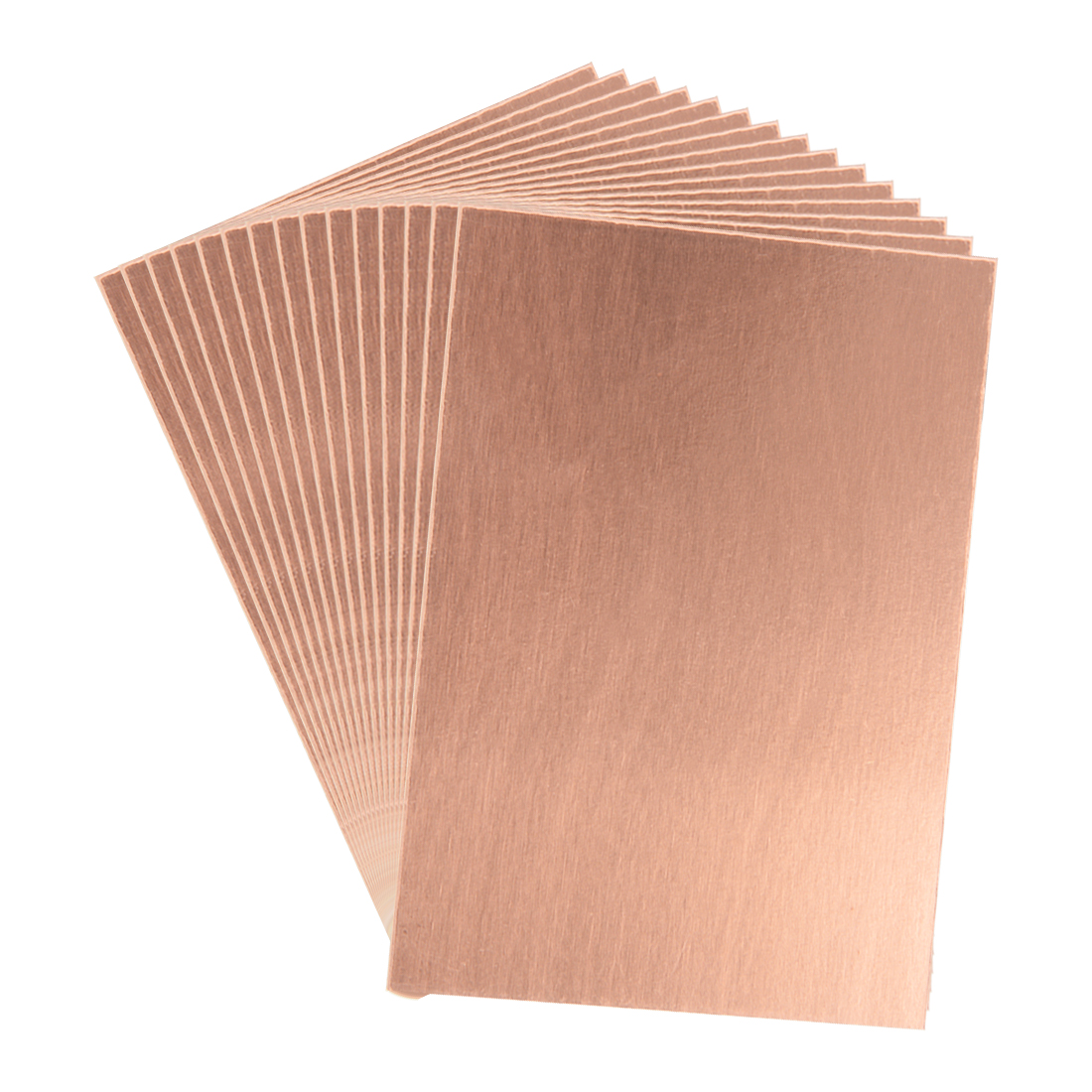 Uxcell 15pcs Universal PCB Board 7X10cm Single Sided Copper Clad Laminate PCB Circuit Board 7x100mm Brown Single Sided Board