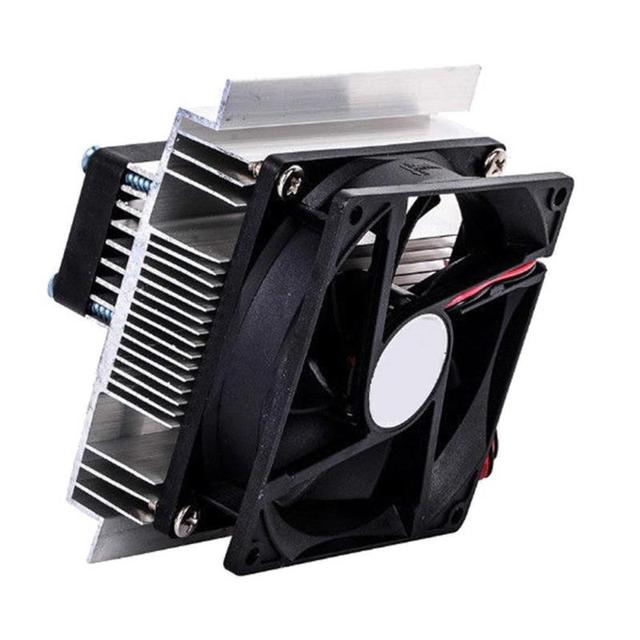 12Volt 60W Thermoelectric Refrigeration Cooling System Electronic Cooler Fan Use