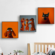 DDWW Cartoon Posters Canvas Painting Dog Painting/Pictures Print on Wall Art Animals Picture Decor for Home No Frame