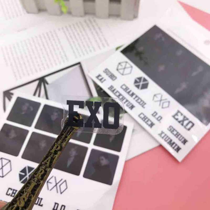 EXO PLANET #5 חמש קונצרט סיור CHANYEOL D.O. BAEKHYUN SEHUN להניח SUHO שימי שקוף מדבקות דבק דמויות חדש