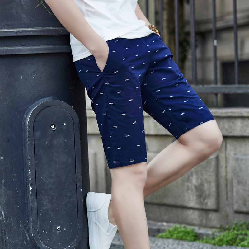 Shorts Men's 2019 Summer Shorts Korean-style Pure Cotton Slim Fit Casual Pants Large Size Shorts Thin Summer Breeches