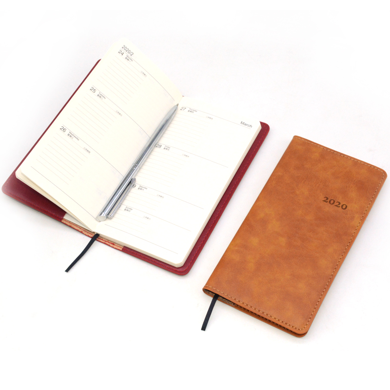 Faux Leather Notebook Hardcover Weekly Planner Agenda 2020 Bullet Journal Notepad Gift Sketchbook Diary Caderno Libretas