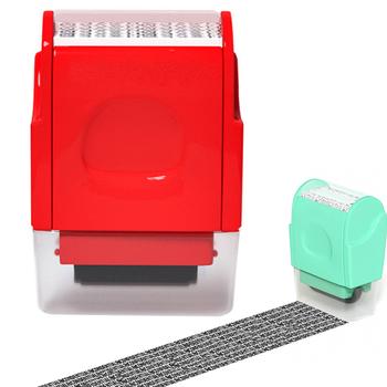 Roller Stamp tożsamość ochrona przed kradzieżą wałek znaczek Mini przenośny poufny wałek znaczek wielofunkcyjne materiały studenckie tanie i dobre opinie
