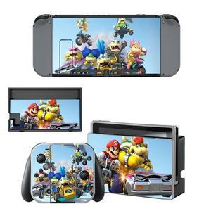 Image 5 - Mario kart Nintendoswitch peau nintention interrupteur autocollants décalcomanie pour Nintendo Switch Console Joy con contrôleur Dock peaux vinyle