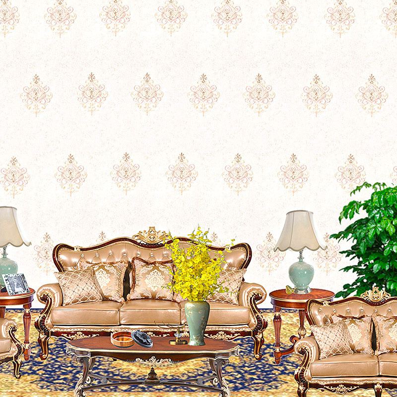 Seamless Wall Cloth Wall Covering Fabric European Style Engineering Home Improvement Embroidered Embroidery Home Improvement Mai