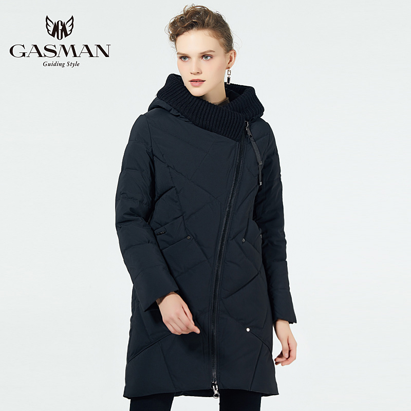 GASMAN 2019 Winter Collection Brand Fashion Thick Women Winter Bio Down Jackets Hooded Women Parkas Coats