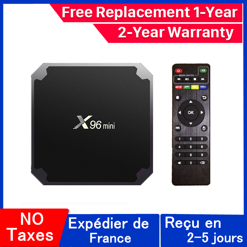 Best x96 mini iptv box android 9.0 tv box x96 Amlogic S905W 1G 8G 2G 16G smart ip tv set top box ship from france
