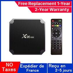 Best x96 mini iptv box android 9.0 tv box x96mini Amlogic S905W 1G 8G 2G 16G smart ip tv set top box ship from france