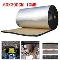 50x200cm 10mm Auto Sound Deadener Matte Noise Motorhaube Isolierung Trittschalldämmung für Haube Motor Aufkleber