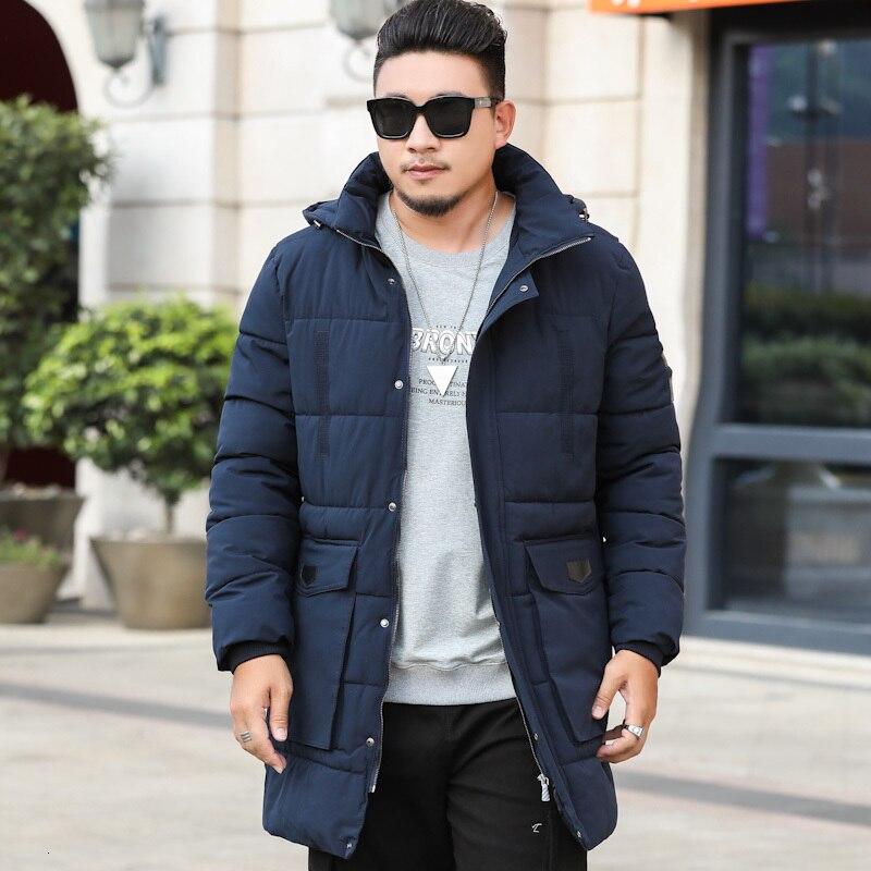 Плюс размер 10XL 9XL 8XL парка для мужчин новая зимняя куртка с капюшоном для мужчин длинная куртка однотонное пальто парки молодежная одежда - 4