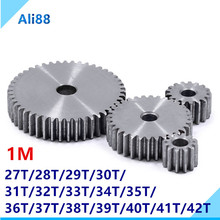 цена на 1 Mold gears is 45 # steel pinion and rack straight gear is gear 10 mm  thickness  gear wheel  27 to 42 tooth hole process