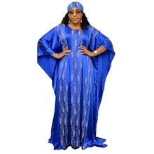 Afrykańska sukienka es dla kobiet 2019 odzież z afryki długa suknia islamska wysokiej jakości długość moda afrykańska sukienka dla pani nakrycia głowy