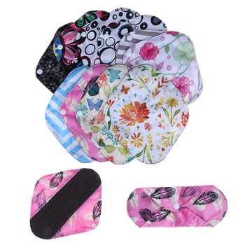 1Pc 20*18cm Organic Bamboo Inner Mama Pads Pantyliner Women Reusable Cloth Menstrual Pads With , For Light Flow Days image