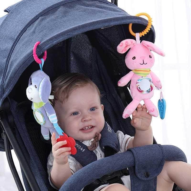 צעצועי תינוקות תינוק רעשנים צעצועים לילדים תינוק צעצועי 0-12 חודשים בעלי החיים רוח פעמוני עגלת המיטה תליון תינוק צעצוע מתנה