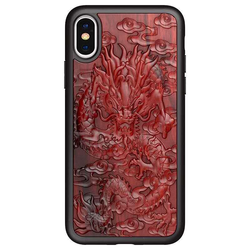 3D Carved Mi 11 Blood Wood Phone Case for Xiaomi Mi 11 Ultra MI 11 Lite Mi 11 Po Mi 11 Case Relief Soft TPU Silicone Wooden Capa