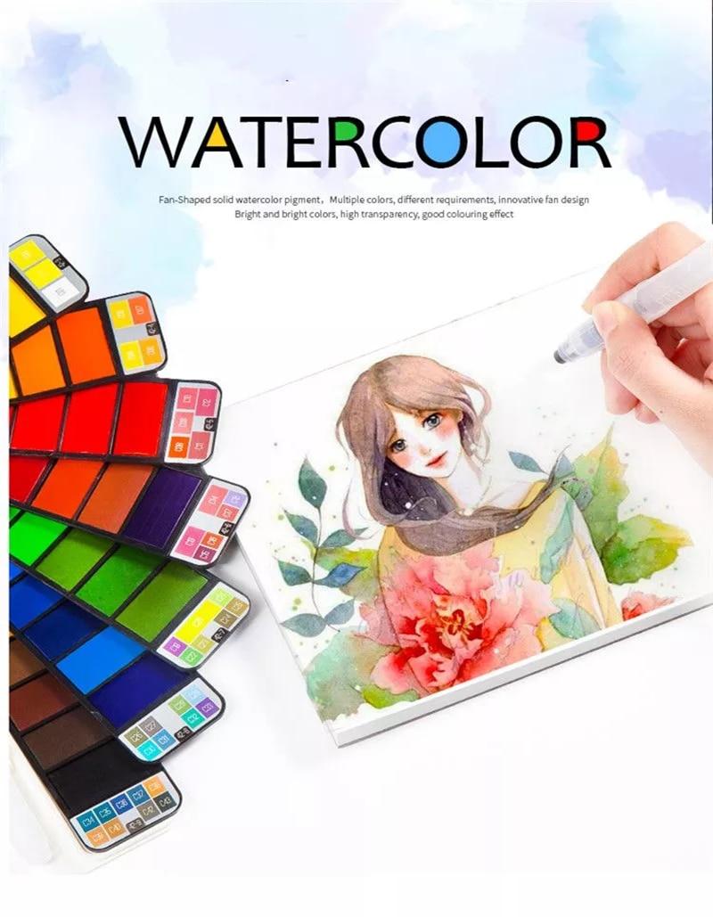Superior Solid Watercolor Paint Set For Acuarelas & Aquarel Farby Akwarelowe Portable Watercolor Pigment For Aquarelle Peinture (5)