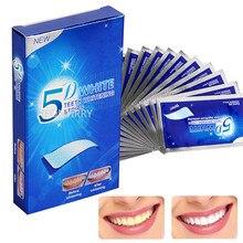 28/14 adet 5D diş beyazlatma şeritleri beyaz diş diş kiti ağız hijyeni bakım şeridi yanlış dişler için kaplama diş hekimi seks beyazlatmak jel