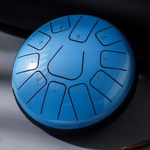 Hluru kid steel tongue drum 11 note 6 inch handpan drum percussion musical instruments for kids With bulge