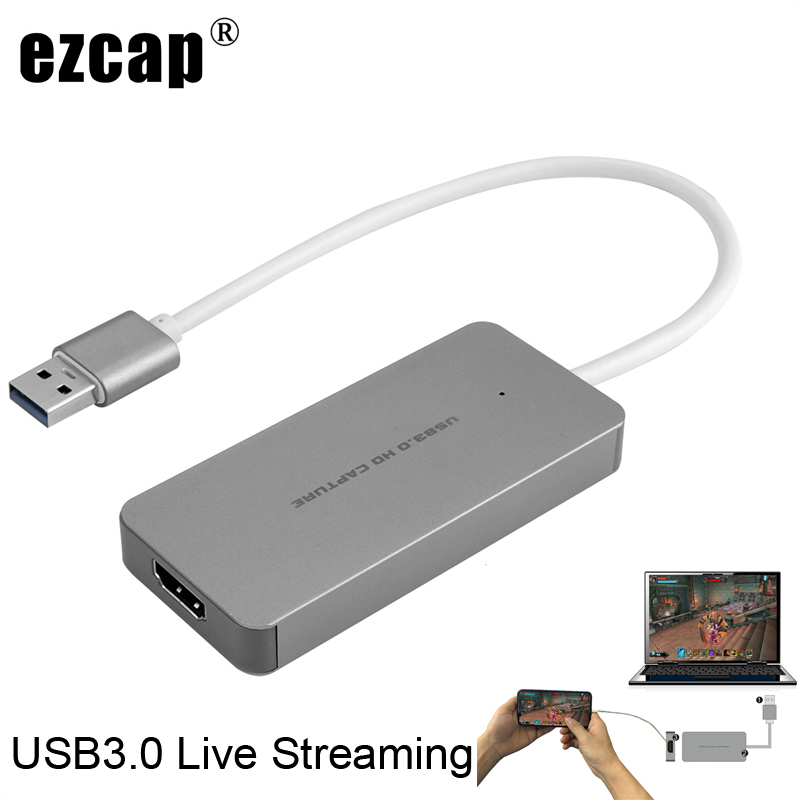 USB 3.0 TypeC <font><b>Video</b></font> <font><b>Capture</b></font> <font><b>Card</b></font> <font><b>HDMI</b></font> to USB3.0 TV BOX Camcorder Game Live Streaming Recording Dongle For PS3 PS4 XBox one Phone image