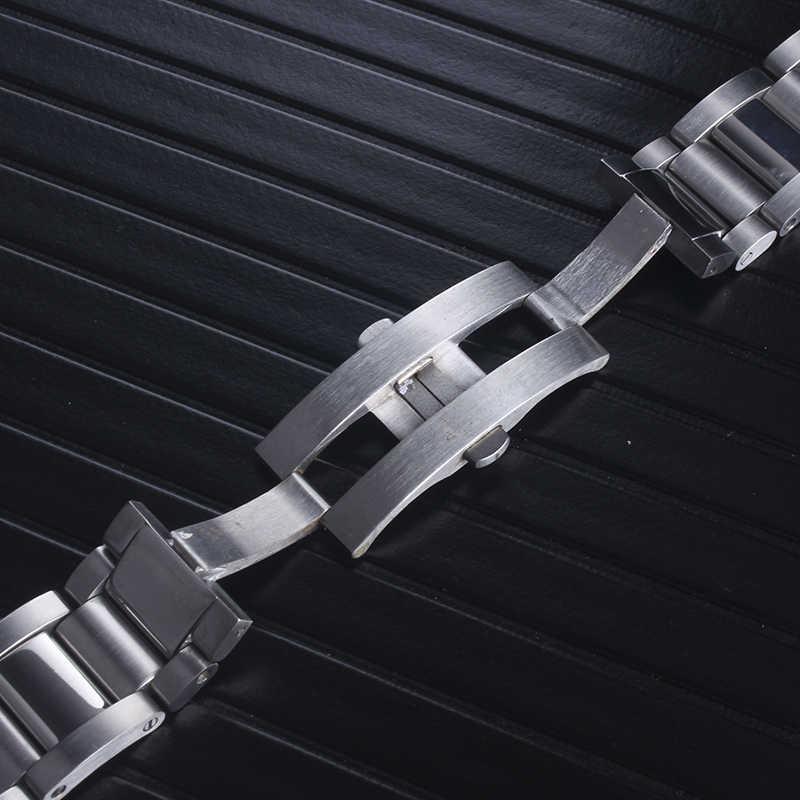 金属腕時計ブレスレット男性高品質のステンレス鋼のための 23 ミリメートル時計バンドファッション女性ストラップウォッチバンドフィットカルティエキャリバーデ