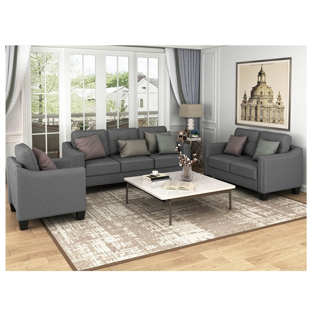 Living Room Set, 1 Sofa, 1 Loveseat And 1 Armchair  3