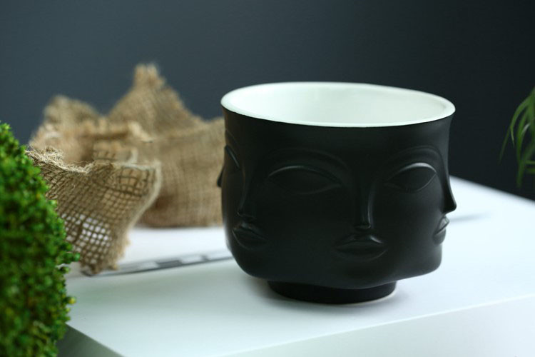 Modern Man Head & Face  Ceramic Plant and Flower Vase