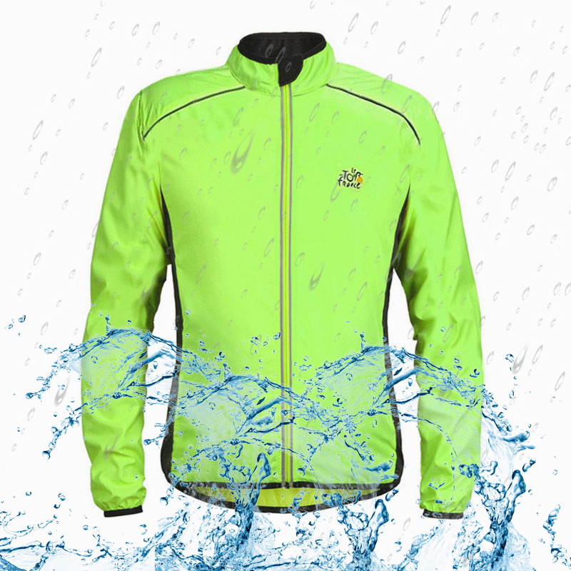 Men Women Waterproof Cycling Jackets High Visibility Windbreaker Bicycle Jacket Windproof Clothing Reflective Bike Coat