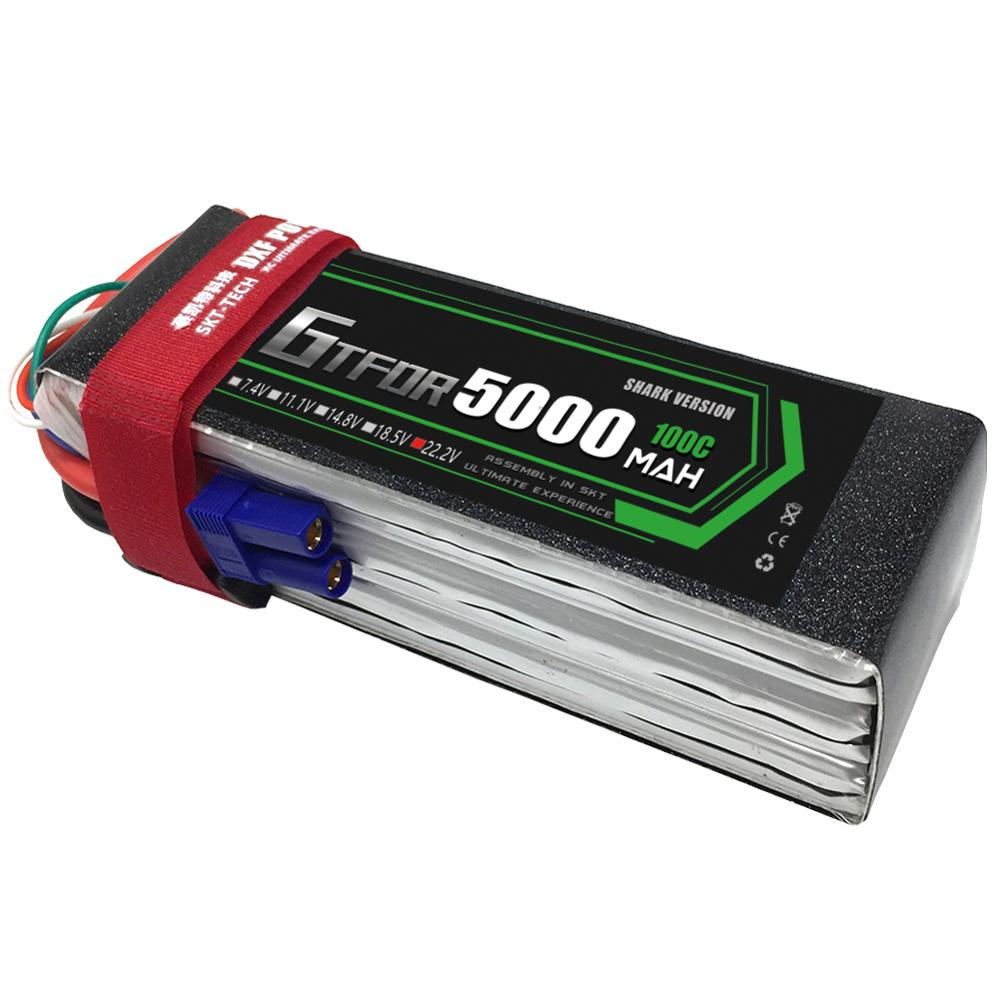 GTFDR 6S 22.2V 5000mAh 100C-200C RC Helicopter LiPo battery Max 70C For RC Airplane Quadrotor Drone AKKU RC LiPo battery 6S image