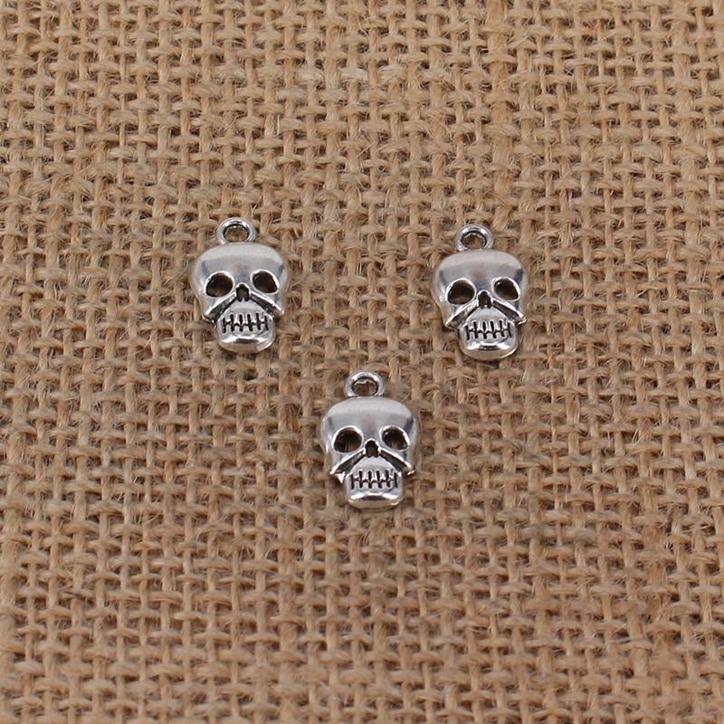 10 x Bull OX Head Skull Animal Halloween Tibetan Silver Charms Pendants Beads