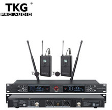 TKG 640-690MHz UR-2000-L dual channel outdoor lapel mic wireless lavalier wireless microphone wireless lapel microphone(China)