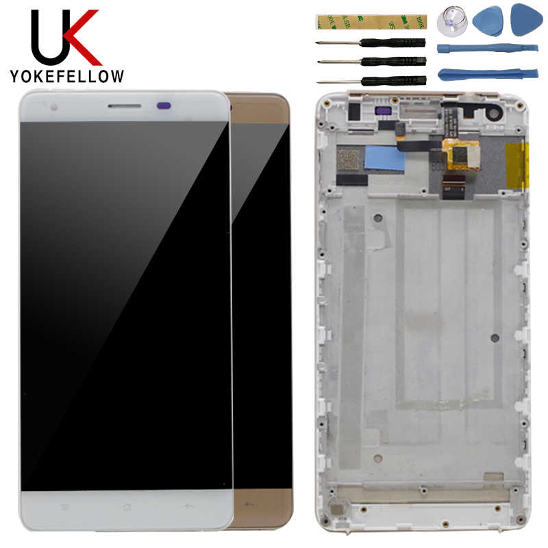 Display A CRISTALLI LIQUIDI Per Oukitel K6000 Screen Display LCD Con Touch Assemblea di Schermo Con Cornice Per Oukitel K6000 Replament Dipslay LCD