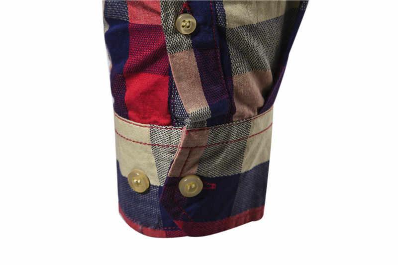 2020 neue Frühjahr Mode 100% Baumwolle Plaid Shirt Männer Lässig Sozialen Business Männlichen Hemd Top Qualität Langarm Herren Kleid shirts