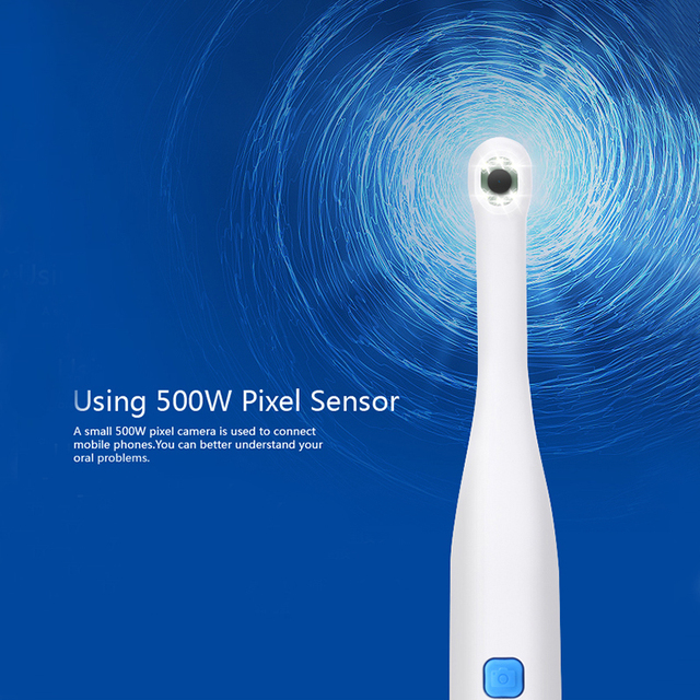Dentist Intra Oral Camera 500W Pixel Endoscape Water proof Wifi Connect with Super Clear Picture
