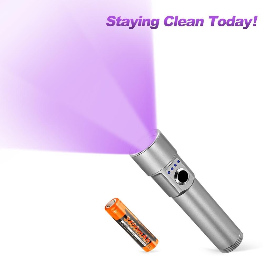 Foxhawk Rechargeable UV Portable UV-C Led Black Li