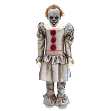 Kids Joker Pennywise Cosplay Costume Mask Stephen King It Chapter Two 2 Horror Clown Halloween Party Supply