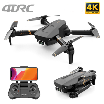 4DRC V4 WIFI FPV Drone WiFi live video FPV 4K/1080P HD Wide Angle Camera Foldable Altitude Hold Durable RC Quadcopter fayee smart egg wifi fpv rc quacopter black