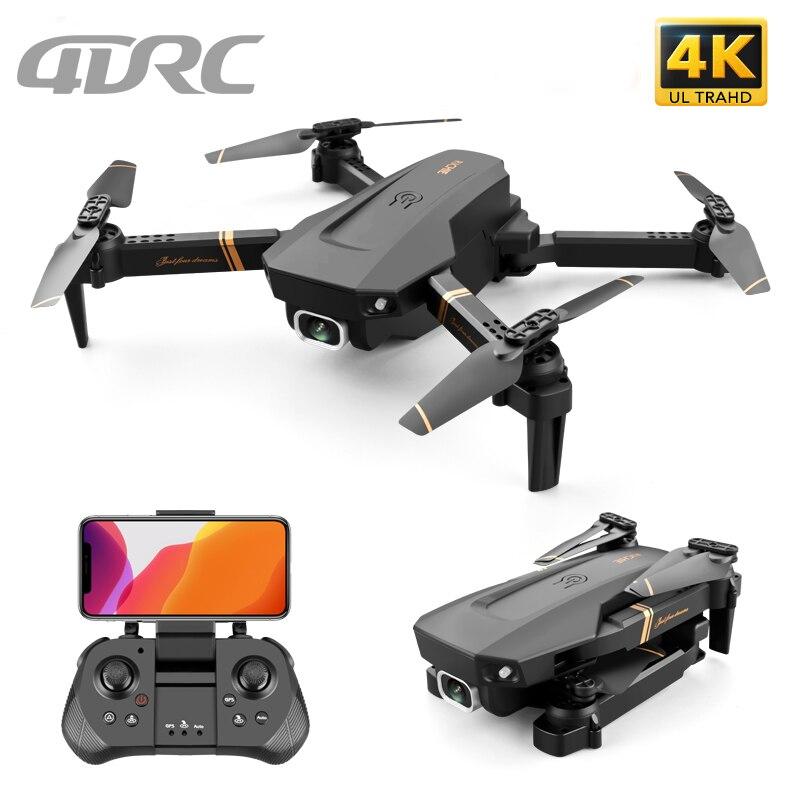 4DRC V4 WIFI FPV Drone WiFi video en vivo FPV 4K/1080P HD gran angular Cámara plegable mantenimiento de altitud duradera RC Quadcopter