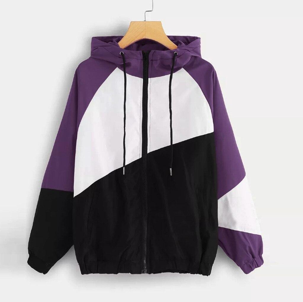 H5a52ec5441f24486b77a1cc706686905h JAYCOSIN Jacket Women 2019 Long Sleeve Patchwork Thin Skinsuits Windbreaker Hooded Women's Jackets Coats chaquetas mujer 19JUL23