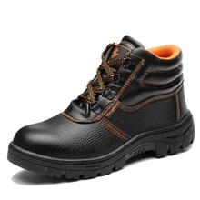Mhysa/ г. Осенне-зимние армейские мужские Противоударная Рабочая обувь с высоким берцем и кепкой Мужская защитная обувь водонепроницаемая Нескользящая Рабочая обувь